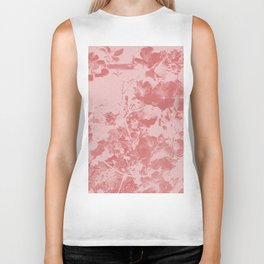 Pink Azalea Blooms Filtered Photo Art Biker Tank