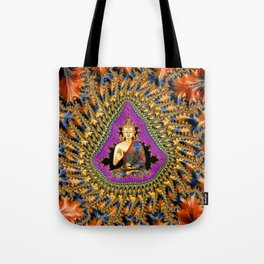 Buddha Mandelbrot Set Tote Bag