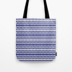 Blue Folk Art Tote Bag