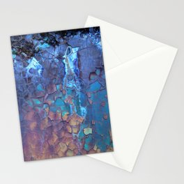 Waterfall. Rustic & crumby paint. Stationery Cards