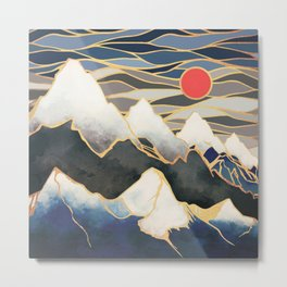 Ice Mountains Metal Print