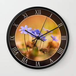 Liverworts at sunset Wall Clock