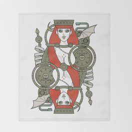 SINS Mentis - Lust Queen of Hearts Throw Blanket