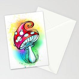 Bright Amanita mushroom Stationery Cards