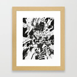 Here to Mars Framed Art Print
