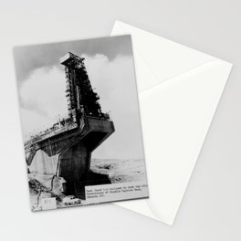 TEST STAND 1-A UTILIZED TO TEST THE ATLAS ICBM Stationery Cards