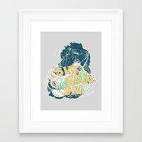 fleet foxes Framed Art Prints featuring Fleet Foxes 3 by Allison Brunton