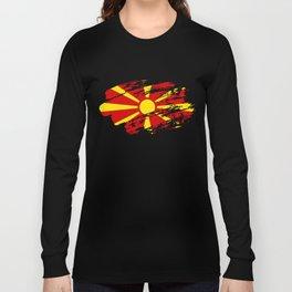 Macedonia Flag Tshirt Long Sleeve T-shirt