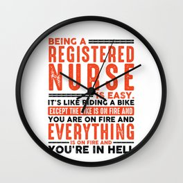 Being a Car Audio Technician Is Easy Tee Everything On Fire Wall Clock