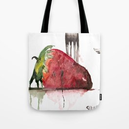 Straight For The Knife  Tote Bag