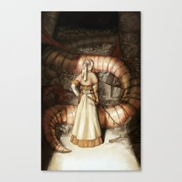 The Midwife and the Lindworm Canvas Print