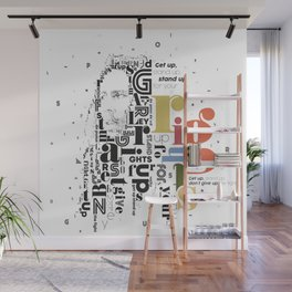 Marley get up stand up don't give up the fight Wall Mural