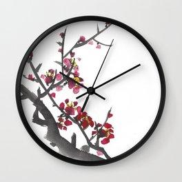 Plum Blossom One Wall Clock
