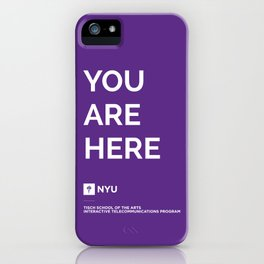 YOU ARE HERE [Gotham Violet] iPhone Case