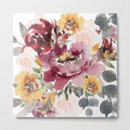 Large floral autumn Metal Print