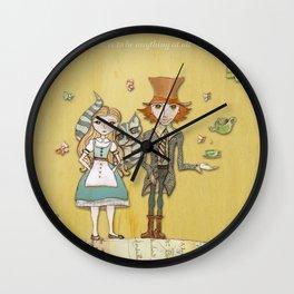 How Strange It Is - Alice in Wonderland Wall Clock