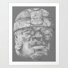 Olmec Art-i-fact Art Print