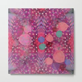 """""""Abstract polka dots in pink and pastel colors"""" Metal Print"""