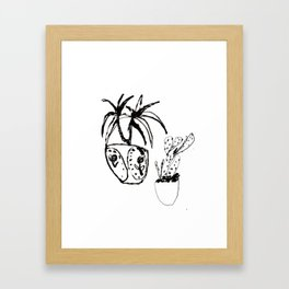 Plants in pots Framed Art Print