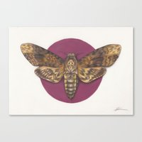 silence of the lambs Canvas Prints featuring Silence by JadeJonesArt