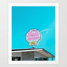 Sea Shell Shop Sign in Morro Bay Art Print