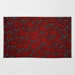 Subtle skull wall red Rug