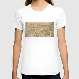 Panoramic view of the Ming Tombs (c. 1736) Ming shi san ling tu T-shirt
