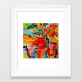 color bubble storm Framed Art Print