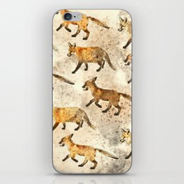 The Red Foxes iPhone Skin