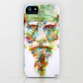 LEO TOLSTOY - watercolor portrait iPhone Case