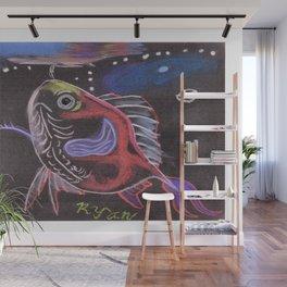 Goldfish Bubbles Wall Mural