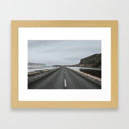 Empty Road - A Love Story Framed Art Print
