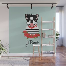 Je t'aime Frenchie Wall Mural