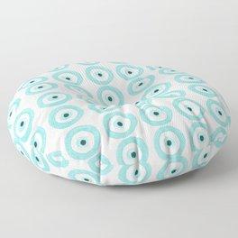 Baby Blue Evil Eye Floor Pillow