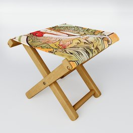 "Alphonse Mucha ""Chansons d'Aïeules (Grandmother's Songs)"" Folding Stool"