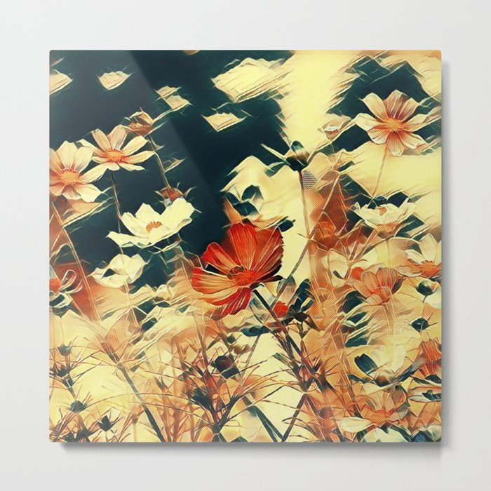 Cosmos in Abstract Metal Print