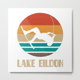 Lake Eildon  TShirt Wakeboarding Shirt Wakeboarder Gift Idea  Metal Print