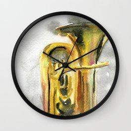 Solo tuba Wall Clock