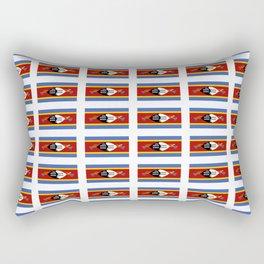 flag of Swaziland-Swaziland,Swazi, weSwatini,kaNgwane, Eswatini, Mswati, Swati Rectangular Pillow