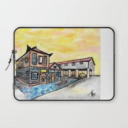 Asian Steampunk Marketplace Laptop Sleeve