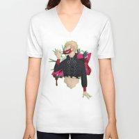 dmmd V-neck T-shirts featuring Dive into DMMd: Noiz by Collette Ren