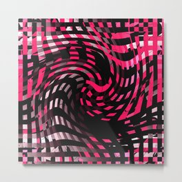 Abstract Graphic Pink Neon Metal Print