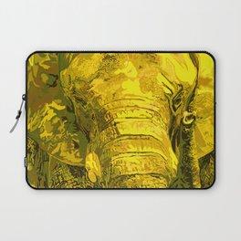 Sunshine Yellow Elephant art Laptop Sleeve