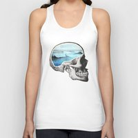 skull Tank Tops featuring Brain Waves by Chase Kunz
