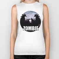 zombie Biker Tanks featuring ZOMBIE by Zombie Rust