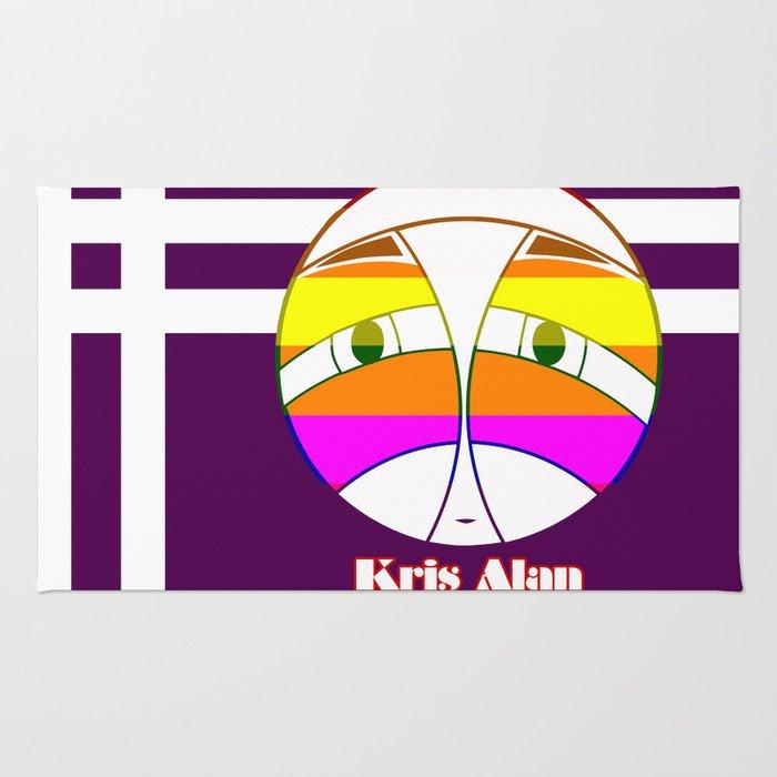rainbow Kris Alan FACE 2  Rug