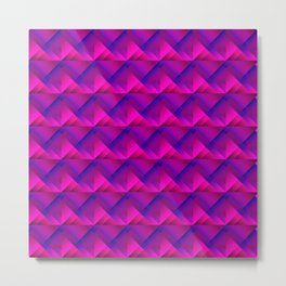 Stripes of pink triangles with the shadow of squares and the intersection of rhombuses. Metal Print
