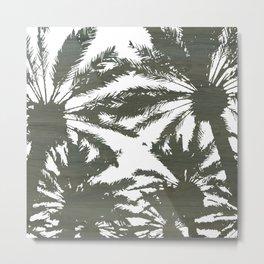 Negative Space Palms Metal Print
