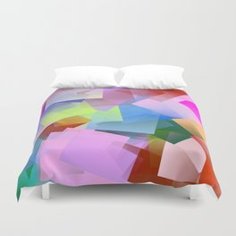Winter landscape by cubism ... Duvet Cover