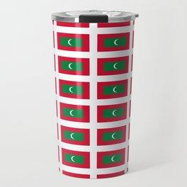 flag of maldives- Maldivian,Dhivehi,malé,Addu, Thaana,Maldivas,Maldivo. Travel Mug